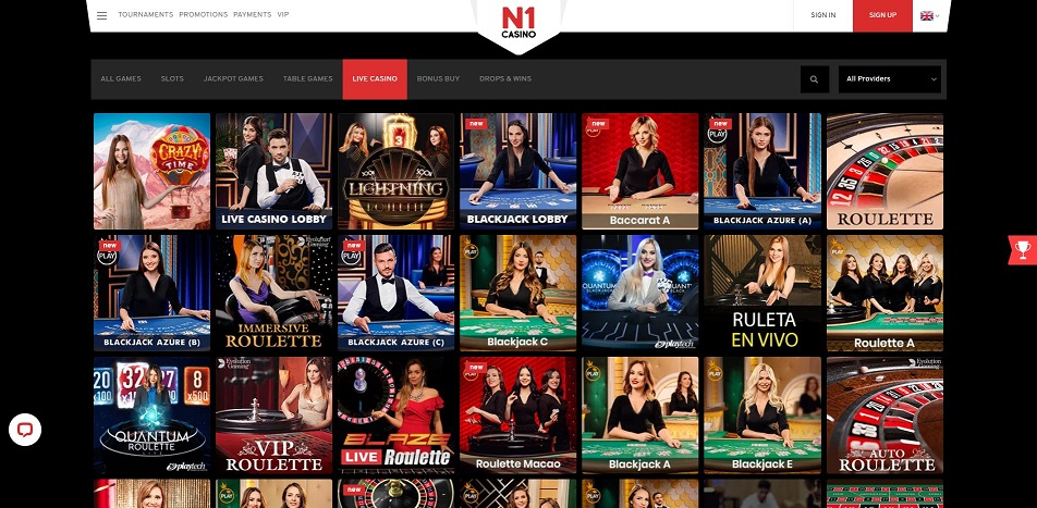 N1 Casino Live Games